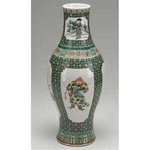 Asian vase chinese famille verte vase 19th c ht 18