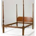 Sheraton bed pencilpost tester bed in maple complete with tester and canopy not in photo new england ca 18101820 76 x 80 x 55