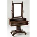 Classical empire dressing table in mahogany on pedestal base with mirror and candle sconces ca 18301840 80 12 x 42 12 x 23
