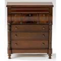 Miniature empire chest of drawers seven drawers with corner columns mahogany ca 1820 20 x 17 x 7 14