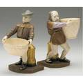 Royal worcester pair of grotesque figurines mansion house dwarves no 602 late 19th c taller 7 34