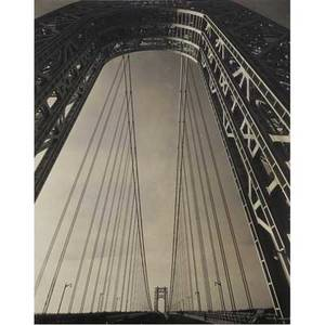 Edward steichen american 18791973 the george washington bridge new york 1931 gelatin silver print printed ca 1931 signed and titled 9 38 x 7 12 sheet