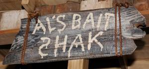 Als Bait Shak Wooden Sign