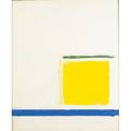 Theodoros stamos american 19221997 yellow sunbox 1965 gouache on illustration board framed signed and dated 24 x 19 78 sheet provenance private collection princeton