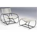 Walter lamb rope lounge chair and ottoman of patinated tubular copper chair 29 12 x 23 ottoman 14 14 x 23 x 25
