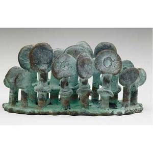 Klaus ihlenfeld germanamerican 20th c small forest 2007 phosphorous bronze signed 3 high provenance the artist