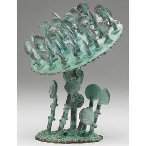 Klaus ihlenfeld germanamerican 20th c life of a sunflower 2007 phosphorous bronze signed 8 12 high provenance the artist