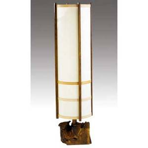 George nakashima kent hall floor lamp 1975 accompanied by copy of original invoice provenance available 62 x 17 dia