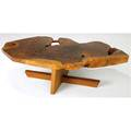 George nakashima minguren i coffee table the claro walnut top with single rosewood butterfly key over black walnut base 1986 accompanied by the original drawings and correspondence from george nak