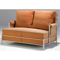 Warren mcarthur park avenue settee with tubular aluminum frame and fabricupholstered cushions 33 x 49 x 37
