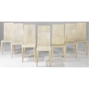 R  y augousti set of seven shagreen dining chairs 43 12 x 16 x 19