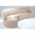 Wharton esherick twopiece sectional sofa upholstered in cream textured fabric 39 x 81 x 39 and 39 x 76 x 39