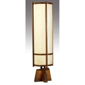 George nakashima kent hall floor lamp provenance available 59 x 15