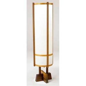 George nakashima kent hall floor lamp 62 x 17 dia