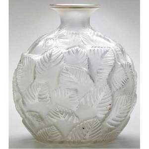 Rene lalique ormeaux vase of clear and frosted glass c 1926 m p 435 no 984 engraved r lalique france no 984 6 12