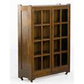 Stickley brothers twodoor bookcase with three fixed shelves unmarked numbered 48 x 36 x 12