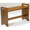 Gustav stickley piano bench with cutout handles unmarked 22 x 36 x 12 12