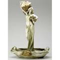 Riessner stellmacher  kessel amphora tall and important art nouveau figural centerpiece with standing maiden holding poppies by edward stellmacher some losses to large poppy restoration to hea