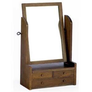 Stickley brothers dressertop pivotting mirror with three drawers brass quaint tag 29 x 18 x 9