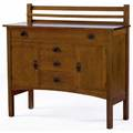 Gustav stickley sideboard no 816 with plate rack paper label 45 12 x 48 x 18 14