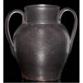George ohr small twohandled vase covered in brown gunmetal glaze stamped ge ohr biloxi miss 4 x 3 12