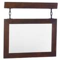 Roycroft hanging mirror with chains unsigned frame 23 34 x 33 34