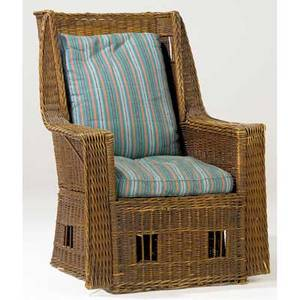 Gustav stickley willow armchair with loose cushions an excellent example of this rare form unmarked 42 x 31 12 x 31