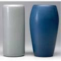 Marblehead two vases one in matte grey the other indigo ship marks 9