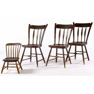 Arrowback chairs painted arrowback chairs set of three together with a childs stepdown windsor chair arrowback chair 33 12 x 19 x 19