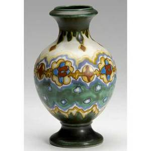 Gouda costa lamp base with stylized floral designs marked 800 costa gouda holland 8 14 x 4 34