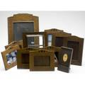 New arts and crafts frames eleven picture frames three of hammered copper eight oak some marked largest 14 x 10 overall