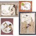 Florence wender american 19192008 five works of art each a paper construction mounted in a plexi box each signed largest 36 x 25