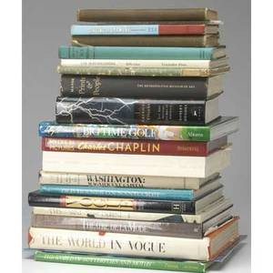 Box lot of books twenty books on various topics including art history travel fashion music and celebrity