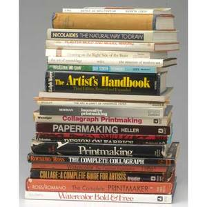 Howto art books twentyone books on various topics including papermaking printmaking painting weaving sculpture etc