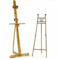 Artists easel in oak together with a victorian bentwood easel artists easel 78 x 24
