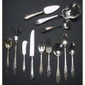 Sterling flatware service sixtyonepiece service for eight in an engraved point pattern sevenpiece place setting includes dinner forks salad forks bullion spoons iced tea spoons coffee spoon