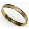 Gold panther bangle 14k yg and wg 193 gs 38 wide 2 12  int dia