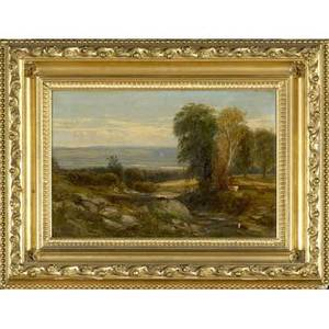 William m hart scottishamerican 18231894 untitled east coast landscape oil on canvas framed 1851 provenance private collection new york signed and dated 12 x 18