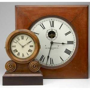 Ingram ionic shelf clock together with elecrified self winding clock co wall clock larger 21 34 sq