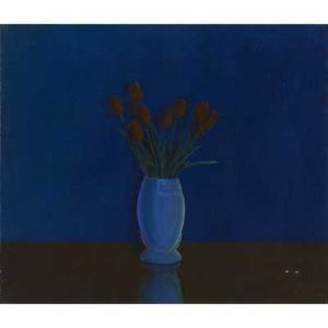 Mark stock american b 1951 evening tulips oil on canvas framed 1980 provenance private collection new york signed dated and titled 24 x 28