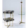 Decorative brass two leopard print stools