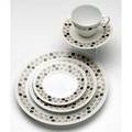 Raymond loewy shape rhythm china set in the mosaic pattern one hundred twentyone pieces including dinner salad and bread  butter plates cups and saucers