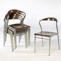 Luigi origlia for piuma set of six stacking chairs with enameled seats and backs and metal frames 32 x 19 12 x 20