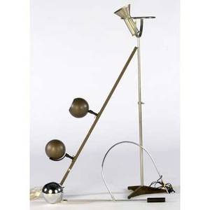 Modern floor lamp missing globe chrome swingarm lamp and bronze finish ceiling fixture floor lamp 53 tall