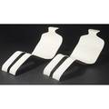Olivier mourgue pair of bouloum white enameled fiberglass lounge chairs 23 x 58 x 23 12