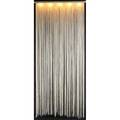 Mario yagi  sirrah pair of garbo enameled steel fivesocket ceiling fixtures with long fringe shades 100 x 44 x 5