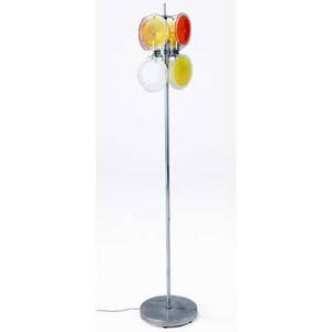 Vistosi floor lamp with eight sockets and blownglass disc shades 56 12 x 10 34