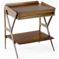 Ico parisi  singer  sons walnut side table with bookmatched top over single drawer and shelf 25 34 x 23 x 18