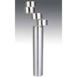 Stilus milano rare aluminum floor lamp with four pivoting sections and five sockets approx 57 x 17 x 12