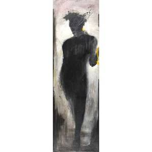 Richard hambleton american b 1954 untitled 19841994 acrylic on canvas framed signed and dated 76 x 22 78 provenance private collection new york